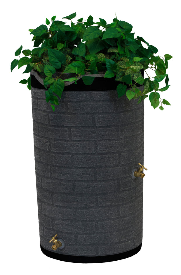 Impressions 50 Gallon Downton Dark Ribbed Rain Saver