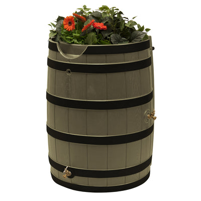 Rain Wizard 65 Gallon Rain Barrel with Darkened Ribs