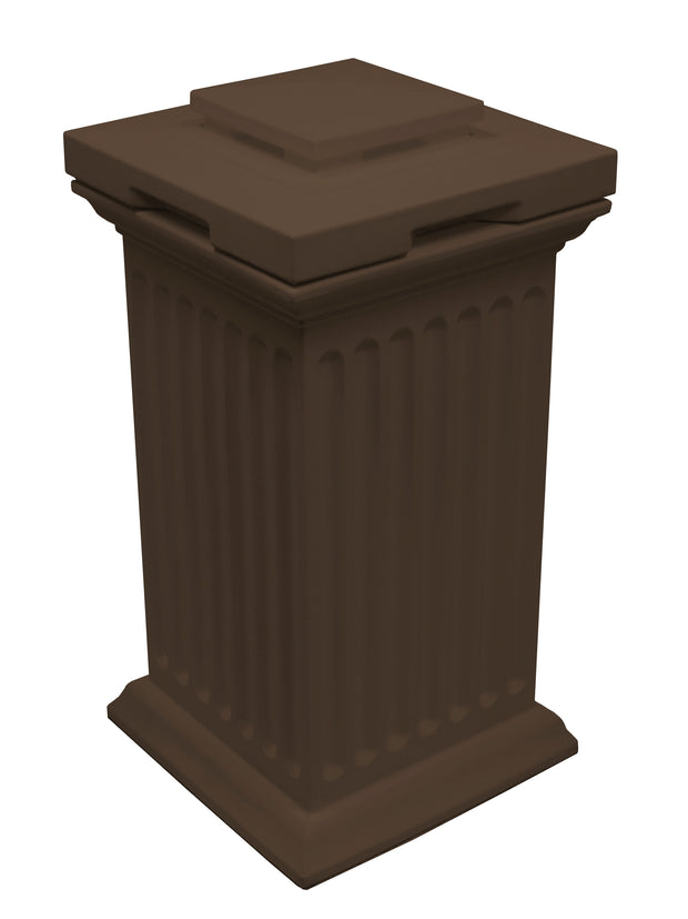 Savannah Column Storage and Waste Bin