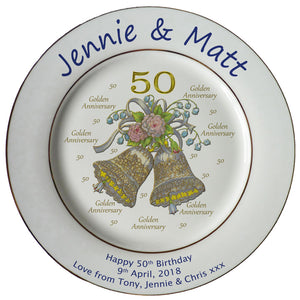 Wedding Anniversary Plates