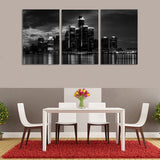 Detroit Skyline 3pc Canvas Wall Paintings
