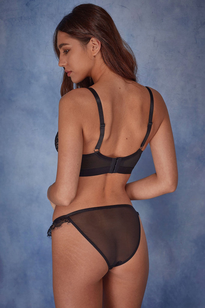 Wolf & Whistle, Jenna - Soutien-Gorge Tulle Panthère (B-G)