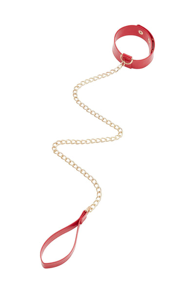 Regalia - Collier & Laisse, Rouge