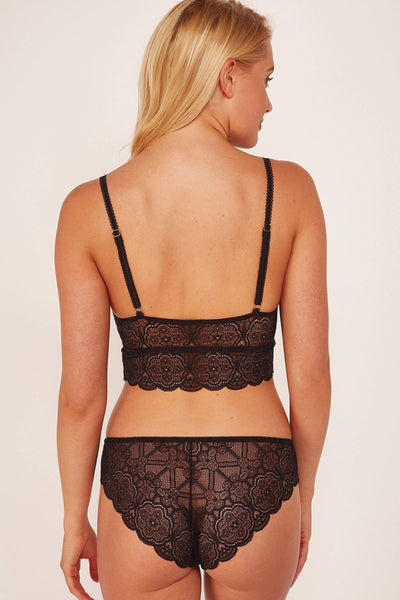 Wolf & Whistle, Ariana New Black - Culotte En Dentelle