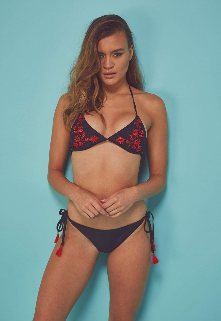 Wolf & Whistle, Eco Embroidered - Bas De Bikini Triangle