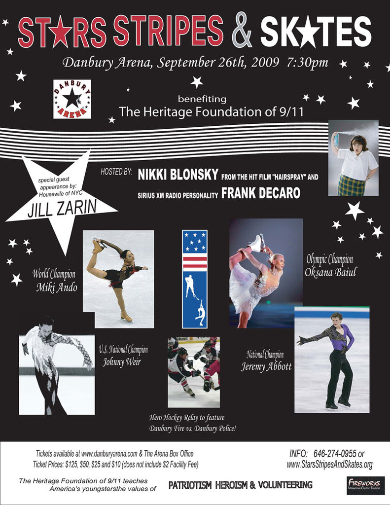 See Jill at the Stars, Stripes & Skates benefit for the Heritage Foundation of 9/11