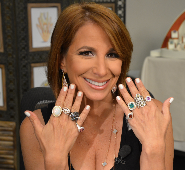 Jill Zarin On WPIX Showing Off Her New Jewelry Collection