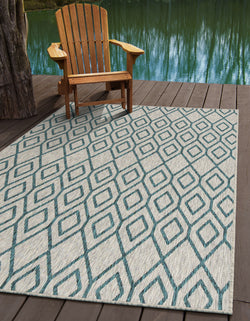 turks & caicos grey geometrical outdoor rug