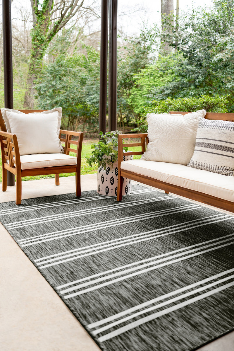 anguilla outdoor rug, charcoal
