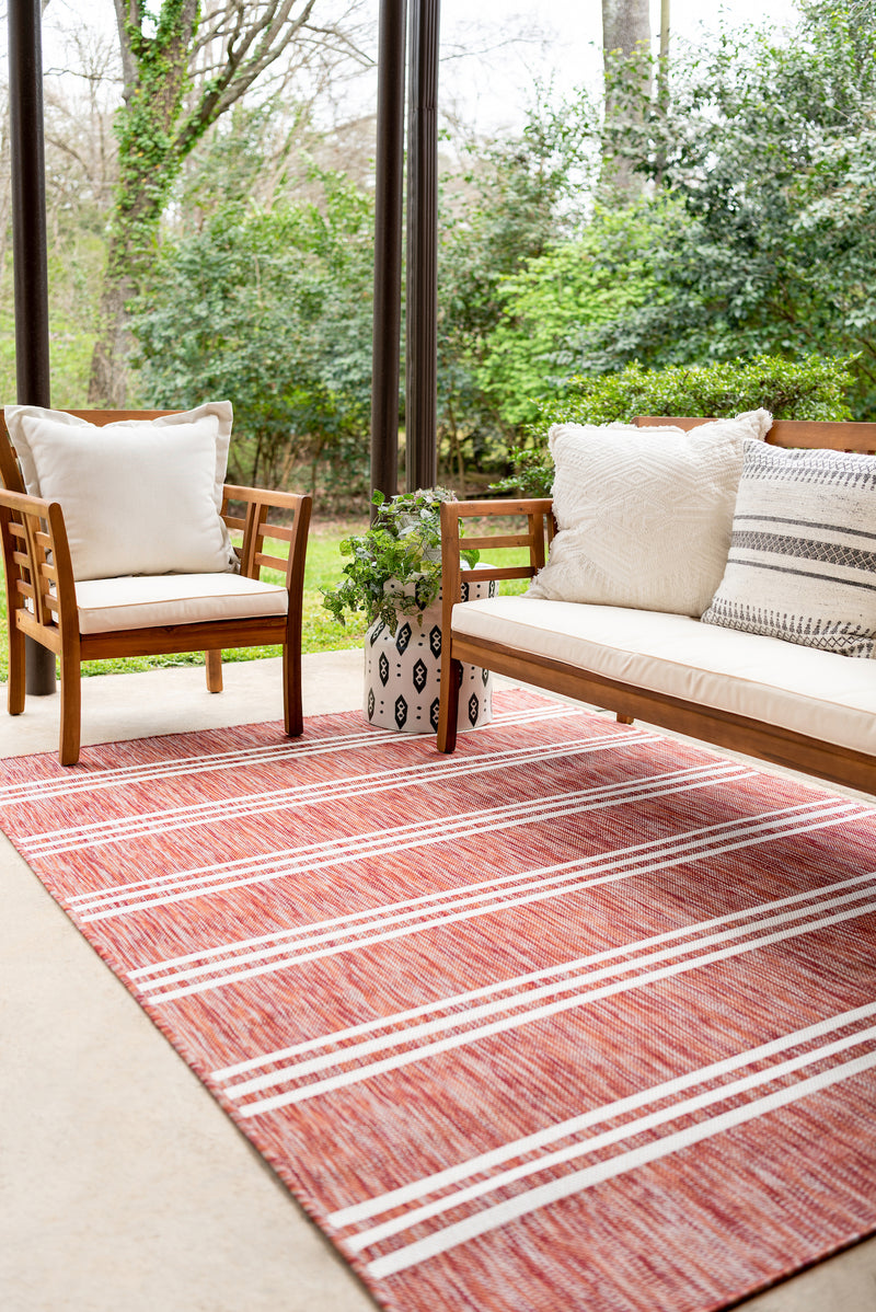 anguilla putdoor rug rust red
