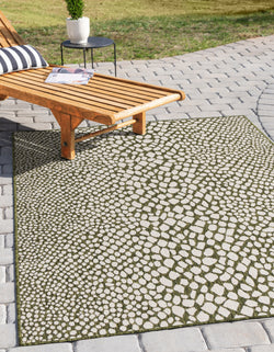 cape town green outdoor rug