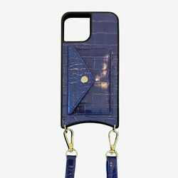 navy blue phone case with detachable straps for iphone 11, 11max, 12, 12 max