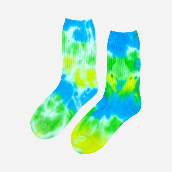 Blueberry Mojito Tie Dye Socks