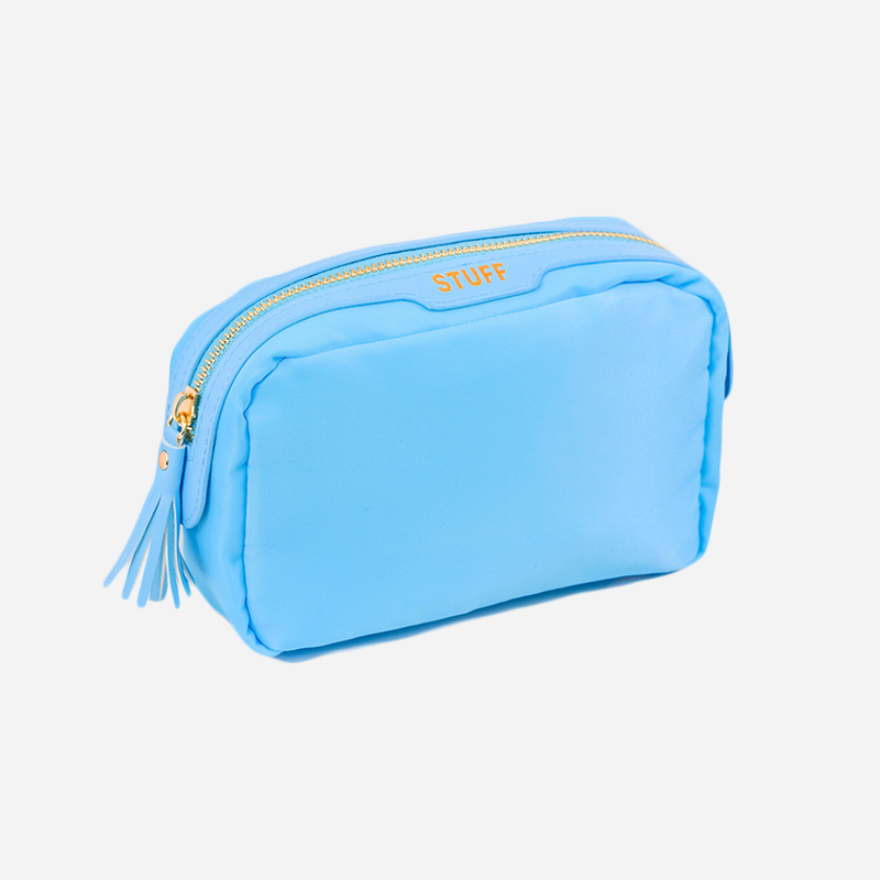 baby blue stuff makeup bag pouch case