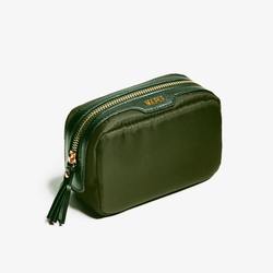 olive green mask bag or makeup pouch