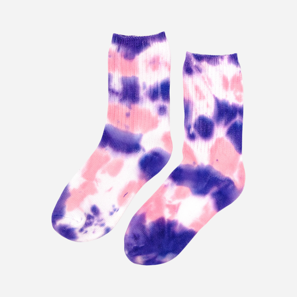 Strawberry Milkshake Tie Dye Socks