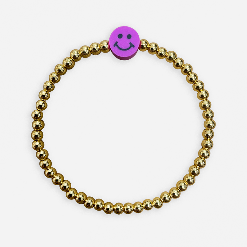 Smiley Face Bead Bracelet
