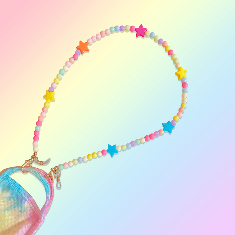 Charlotte pastel beaded mask necklace