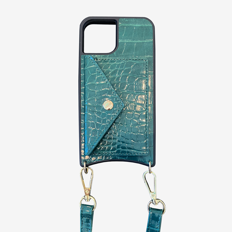 Hunter Green Phone Case With Detachable Strap