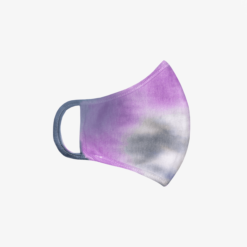 ultra violet purple and grey tie-dye mask