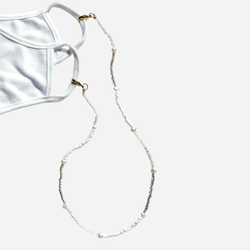 Summer Strings Mask Necklace - White