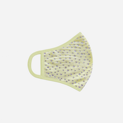 crystal covered lemonade yellow face mask