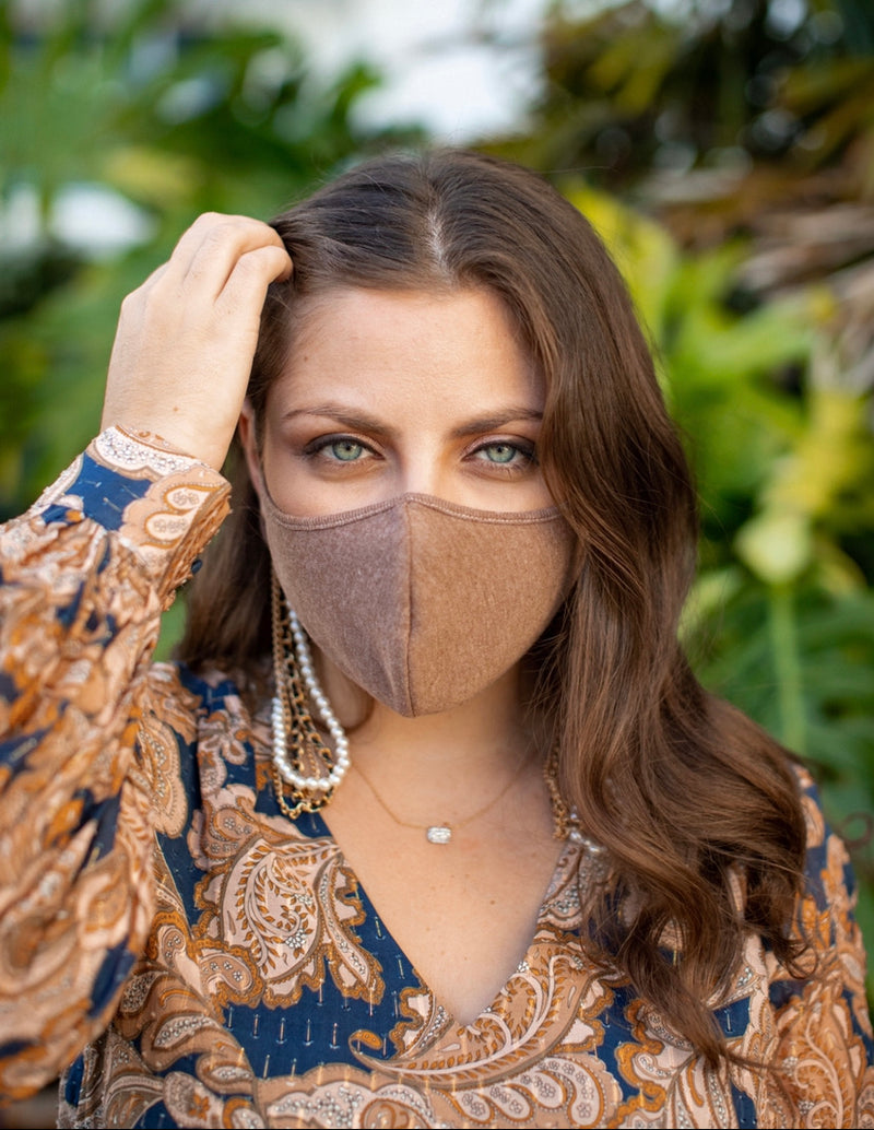 Brown Fashion Face Mask