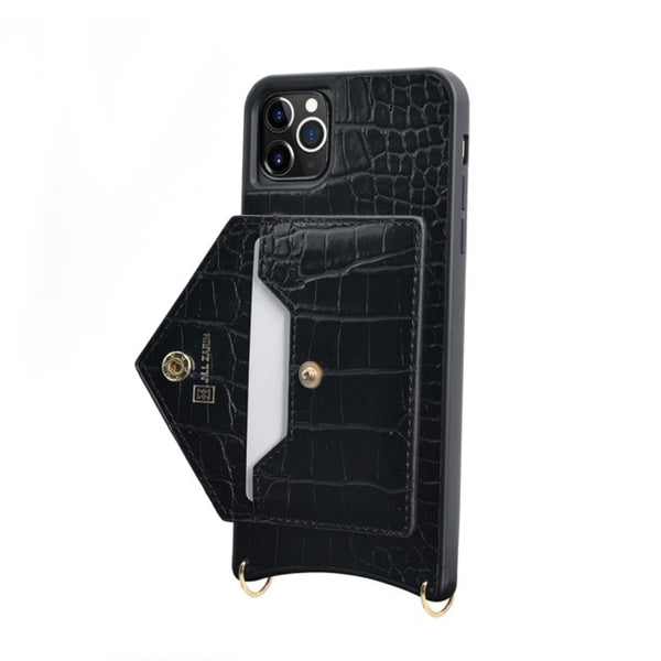 Black Phone Case With Detachable Strap