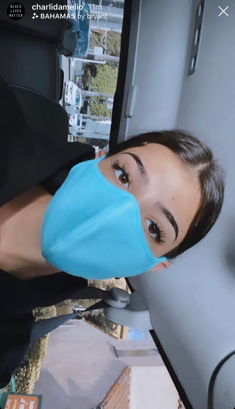 Aquamarine Fashion Face Mask