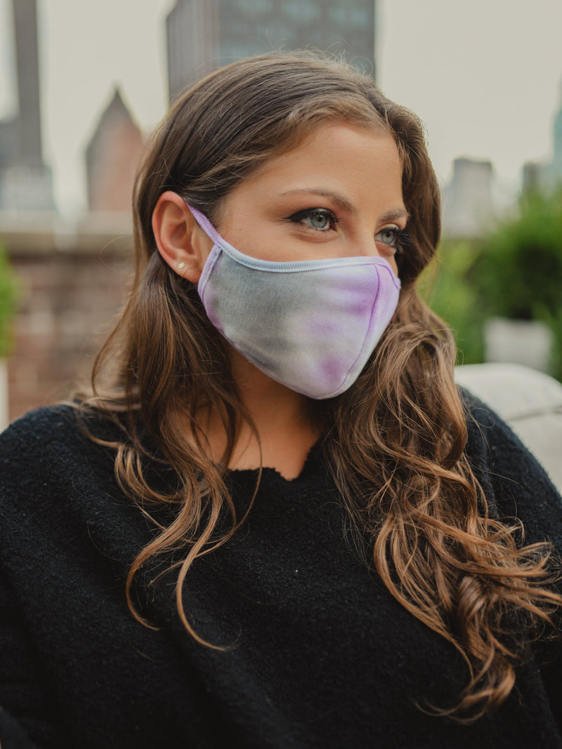 Ultra Violet Tie-Dye Fashion Face Mask