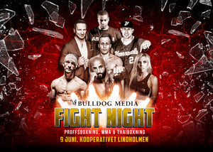 Komplett matchkort inför Bulldog Media Fight Night den 9e juni