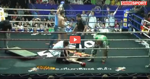 MuangThai knockar Thaksinlek - Rajadamnern Stadium - VIDEO