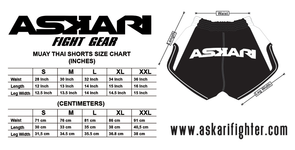 Fight Shorts Size Guide