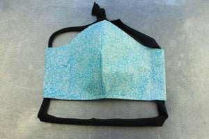 Aqua Swirlstone Face Mask By Heartbeat Clothing