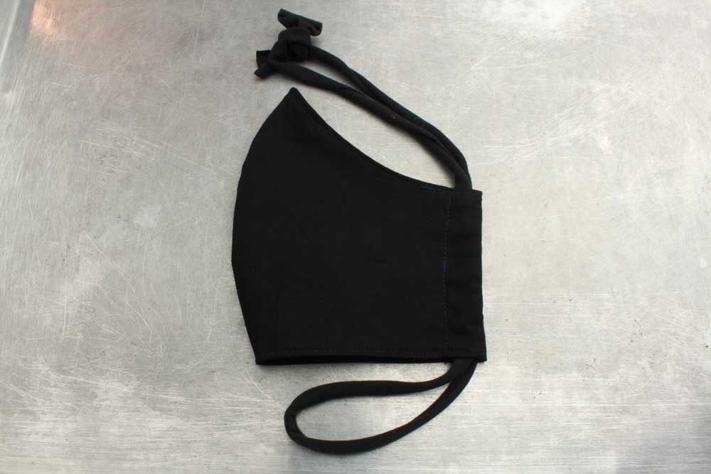 Black Cotton Face Mask | Heartbeat Clothing