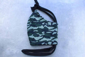 Green Camo Face Mask By Heartbeat Clothing