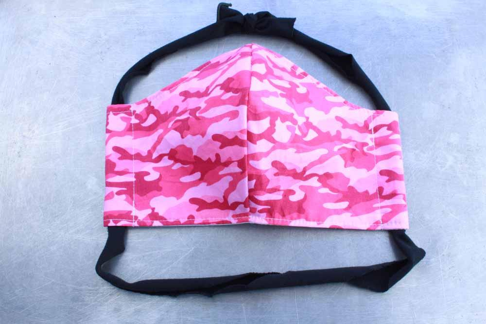Pink Camo Cotton Face Mask By Heartbeat Clothing