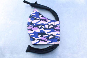 Purple Camo Cotton Face Mask By Heartbeat Clothing