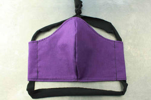 Purple Cotton Face Mask By Heartbeat Clothing
