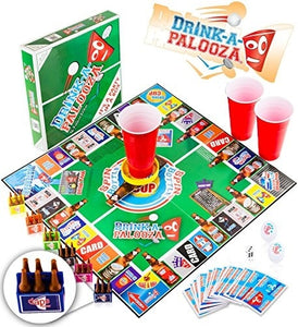 "DRINK-A-PALOOZA Board Game: Combines ""old-school"" + ""new-school"" drinking game"