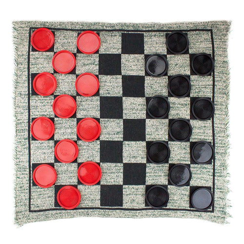 Giant 3-in-1 Checkers Mega/Tic Tac Toe