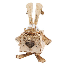 Load image into Gallery viewer, Creative 3D Bunny Wooden Puzzle Music Box