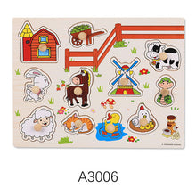 Load image into Gallery viewer, Baby Wooden Puzzle Hand Grab Board