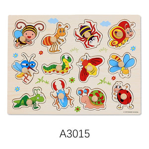 Baby Wooden Puzzle Hand Grab Board