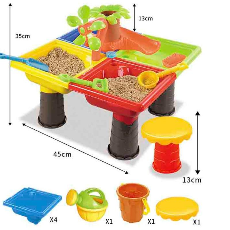 Kids Outdoor Beach Sandpit Table