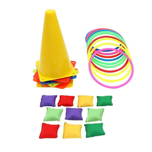 26pcs Plastic Cones Ring Bean Bag Toss