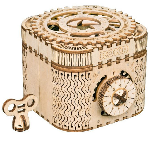 3D Treasure Box & Calendar Wooden Puzzle Game