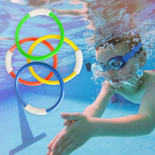 Kids Summer Dive and Grab Game Toys PVC 4pcs Outdoor Sports Play Water Pool Toys