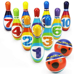 Kids Bowling Play Set Foam Ball