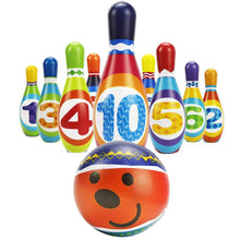 Load image into Gallery viewer, Kids Bowling Play Set Foam Ball